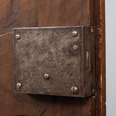 An 18th century walnut cabinet.