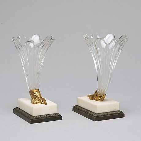 A pair of vases, circa 1900.