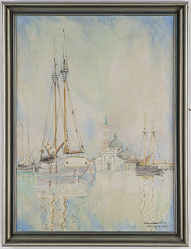 Rikard lindstrÖm, oil on canvas, signed and dated venezia 1924.