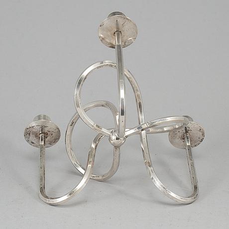 Josef frank, a 'vänskapsknuten' silver plated brass candelabrum from svenskt tenn.