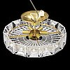 Carl fagerlund, a glass and brass ceiling light from orrefors.