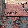 Hans arnold, tusch & akryl, signerad.