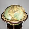 Terrestrial globe, räths, leipzig, germany, 1930s-40s.