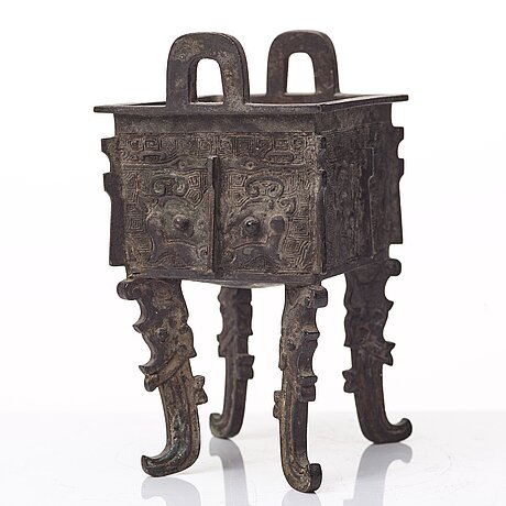 A bronze censer, ming dynasty with mark.