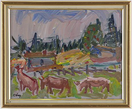 Erling Ärlingsson, oil on panel, signed.