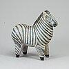 A lisa larson stoneware figure of a zebra, gustavsberg.