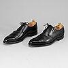 Crockett & jones, a pair of black leather 'highbury' shoes, size 8.