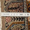A runner, an old turkish, ca 223 x 80,5-83,5 cm (as well as 1-1,5 cm flat weave at the ends).