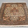 A rug, a kashmir probably, ca 210,5 x 131,5 cm (as well as 1-2 cm flat weave).