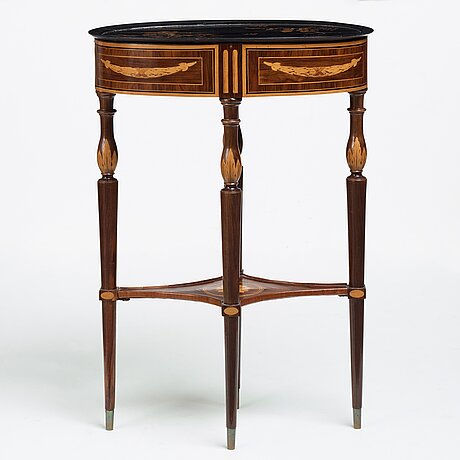 A gustavian late 18th century table by georg haupt (master in stockholm 1770-1784), not signed.