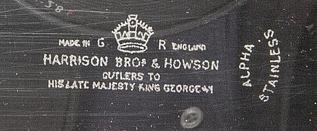 Trancherbestick 3 dlr harrison bros & houson ltd england 1900-talets mitt.