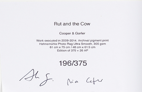 Cooper & gorfer, archival pigment print, signed and numbered 196/375 verso.
