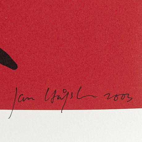 Jan hÅfstrÖm, litograph in color, signed, numbered 1469/2000, dated 2003.