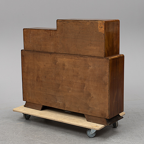 A walnut veneered cabinet, 1930's.