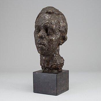 NINNAN SANTESSON, Bronze head, sugned, foundry mark.