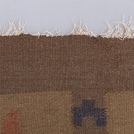 Saelan anna, hårgarnsmatta, kotiteollisuus oy orkamo 1920-tal. circa 345x260 cm.