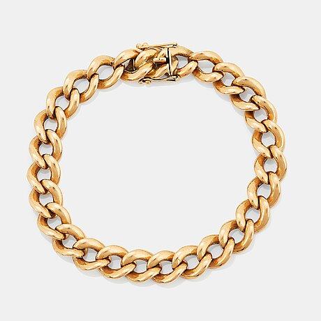 Armband 18k guld, pansarlänk.