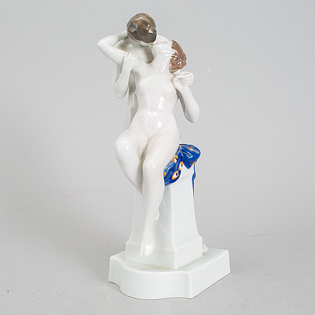 A second half of the 20th century porcelain figurine signed richard aigner, rosenthal, munich.