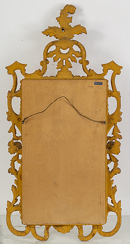 A danish baroque style mirror, 20th century.
