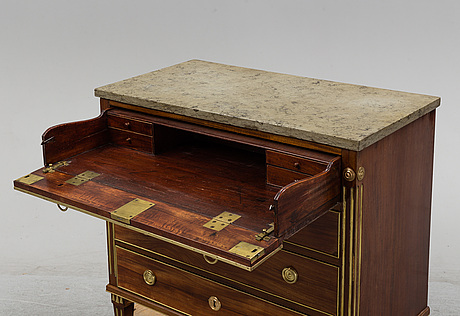 A late gustavian late 18th century writing commode.