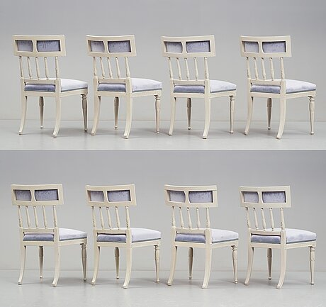 A set of eight late gustavian chairs by erik Öhrmark.