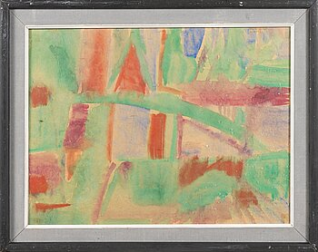 EINO RUUTSALO, watercolor, signed and dated 1959.