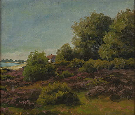 Ellen trotzig, oil on canvas, signed and dated -24.