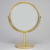 Hans-agne jakobsson, a polished brass table mirror, model s 42, markaryd, sweden.