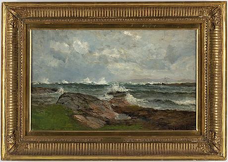 Olof krumlinde, oil on canvas, signed.