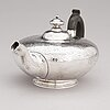 A sterling silver teapot, mark of w.m, london 1944.