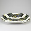 Birger kaipiainen, a stoneware dish, rörstrand, sweden 146/500.
