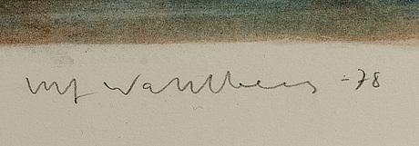 Ulf wahlberg, färglitografi, signerad, daterad -78 och numrerad 234/310.