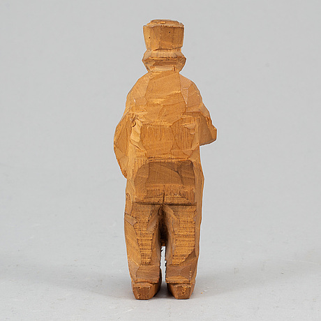 Axel petersson dÖderhultarn, wooden figure, stamped signature.