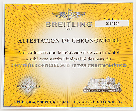 "Breitling, chronomat evolution, ""tachymetre"", chronometre, chronograph, 43,5 mm."