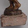 Axel olsson, skulptur, brons, signerad.
