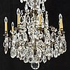 An early 20th century baroque style chandelier.
