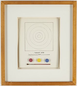 JASPER JOHNS, multiple, 1971, printed signature, published by The Museum of Modern Art's 'Technics and creativity.