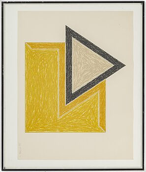 FRANK STELLA, lithograph, 1974, signed in pencil and numbered 31/100.