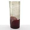 Tapio wirkkala, a glass vase of the 'pavoni' series, signed venini italia 82.