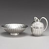 Sigvard bernadotte, a sterling silver strawberry set '856 a' for georg jensen, copenhagen 1990-91. design year 1938.