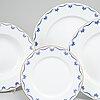 A 21st century 45 pcs 'mårbacka' porcelain dinner service, rörstrand.