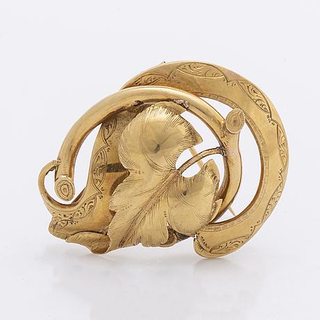 1800s brooch 18k gold, 5,4 g, stockholm 1861.