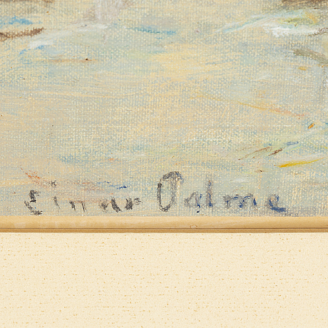 Einar palme, oil on canvas/paper-panel, signed.