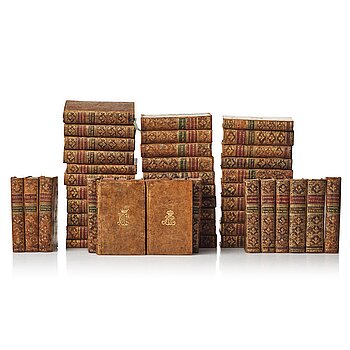 108. Royal bookbindings, 50 volumes, Duchess (Queen) Hedvig Elisabet Charlotta (1759-1818).