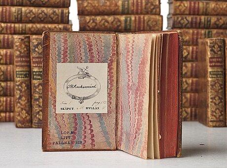 Royal bookbindings, 50 volumes, duchess (queen) hedvig elisabet charlotta (1759-1818).
