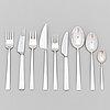 "Bertel gardberg, a 108-piece set of ""birgitta"" silver cutlery, marked bg, hopeatehdas oy, helsinki 1956-61."