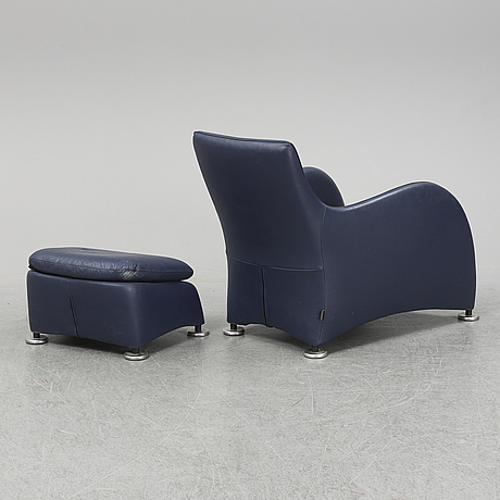 Gerard van den berg, a 'loge' easy chair and ottoman, montis.