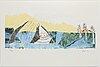 Britta marakatt-labba, lithograph in colours, signed britta m.l. and numbered 70/250 in pencil.