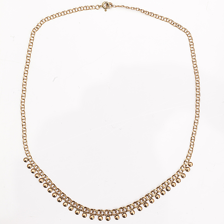 A 14k gold necklace. finland 1975.