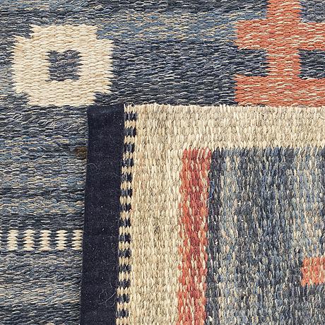 Carl dangel, a signed flat weavew carpet ca 163 x 100 cm.